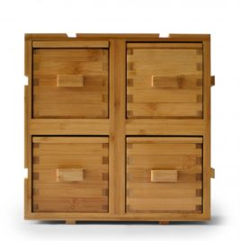 Boxes with 4 drawers, up to 8 ingredients