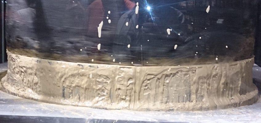 Une presse en pierre pour moudre les graines de sésame